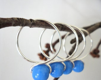 Bluebell - Snag Free Knitting Stitch Markers (Extra Large) - Fit up to size 19 US (15.00 mm)