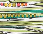 LAST PIECE Half Yard of Green Bean, Natura, Alexander Henry Fabrics, 100% Cotton Fabric