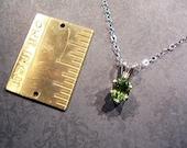 Key Lime Pie - Genuine Green Tourmaline - Everyday Necklace