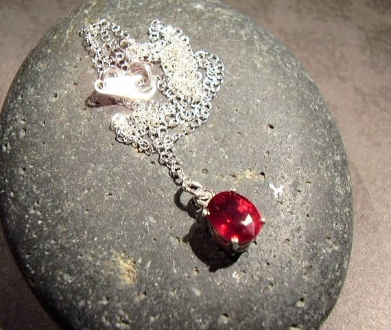 A Little Love - Genuine Ruby Necklace