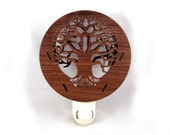 Tree of Life Wooden Night Light - Sustainably Harvested Walnut Nightlight
