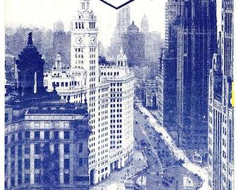 1940s Chicago Gray Line Bus Tours Brochure