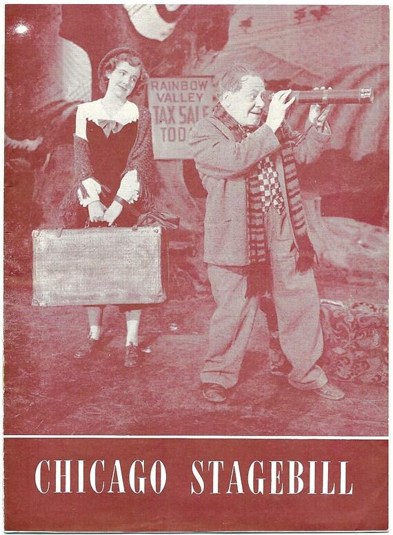 Vintage Chicago Stagebill 1949 Finian's Rainbow Schubert Theater