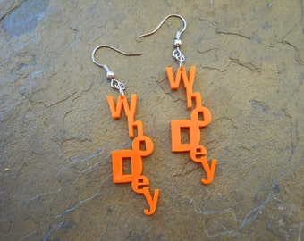 Whodey Earrings - Show your football spirit and support for the Cincinnati Bengals