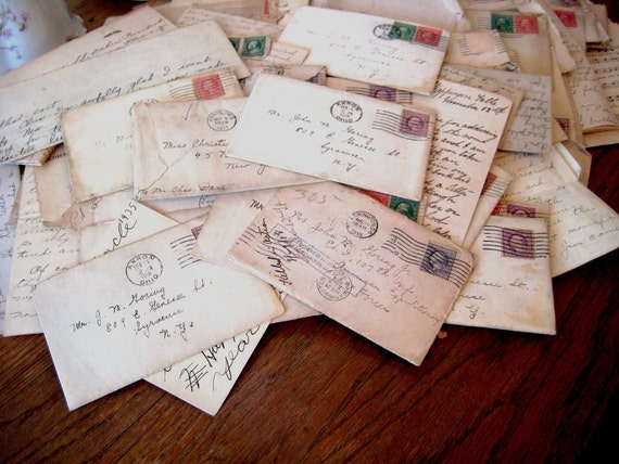 Vintage 1917 to 1918  Letter Collection  - Paper Ephemera