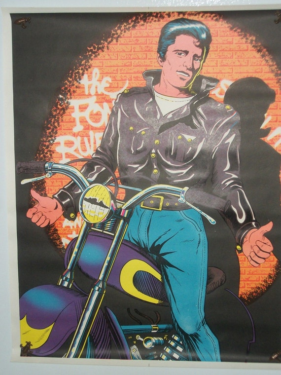 SALE The Fonz Rules Vintage Poster
