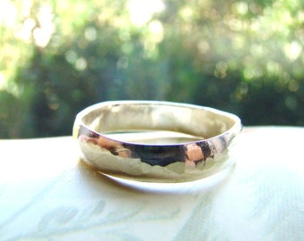 SALE Rustic Silver Band Ring