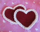 Valentine's Pot Holder - Heart Shaped Hot Pads