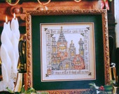 Patricia Andrle CHRISTMAS BELLS Picture - Counted Cross Stitch Pattern Chart - fam