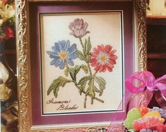 Cindy Rice Lilac Studios GRECIAN WILDFLOWERS Anemone Blanda  Counted Cross Stitch Pattern - fam