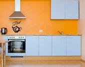 Tea Pot, Coffee, Hot Cocoa, Water - Decal, Sticker, Vinyl, Wall, Home, Kitchen, Dining, Restaurant Decor