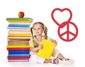 Heart Decor, Peace Sign Decal, Heart Decal, Hippie Decor, 1960's, Home Wall Decal, Sticker, Vinyl, Dorm, Teen Room Art, Tween Bedroom Decor