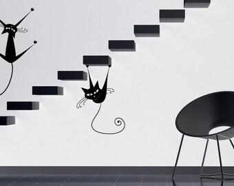 Cat Decal, Cat Wall Art, Cat Decor, Vet Decor, Wall Decal, Cat Wall Decal, Kitty, Feline, Vet Tech Decal, Veterianrian, Pet Gift, Kids Decor