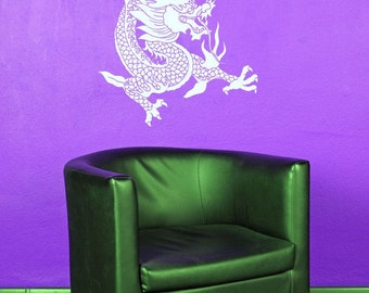 Dragon Wall Decal, Dragon Decor, Chinese Wall Art, China, Chinese Decor, Dragon Art, Wall Decal, Home Decor, Festival, Party Decorations