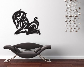 Aries Ram Zodiac, Horoscope Art, Zodiac Sign, Horoscope, New Age, Aries Decal, Aries Decor, Wall Art, Home Decor, Bedroom, Zodiac Decor