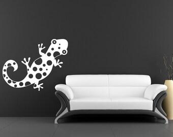Gecko Decal, Lizard, Reptile Decor, Childrens Wall Decal, Vinyl Sticker, Boy's Bedroom, Playroom Decor, Playroom Wall Decal, Nursery Decor