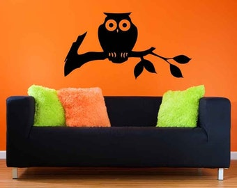 Owl Decal, Branch Decal, Branch Decor, Branches, Owl Decor, Halloween Decor, Halloween Decorations, Kids Room Art, Wall Decal, Home Decor