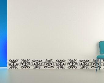 Scroll Decorative Border Decal Sticker Vinyl Wall Home - Vinyl wall decals borders