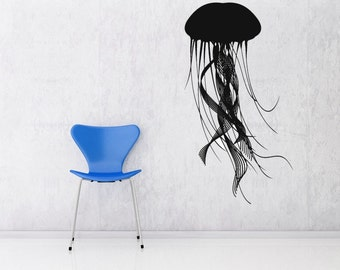 Jellyfish Art, Jellyfish Decal, Tentacle Decal, Tentacle Wall Decal, Aquarium Decor, Jellyfish Decorations, Jellyfish Decor,  Bathroom Decor
