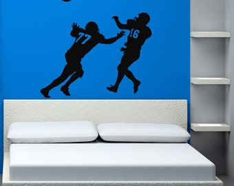 Sports Decal, Football Player, Football Decal, Football Decor, Football Decorations, Boys Room Decor, Sports Decor, Wall Decal, Home Decor