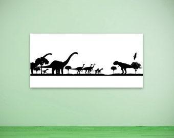 Dinosaur Birthday, Party Decorations, Long Neck, T-Rex, Prehistoric, Wall Decal, Sticker, Vinyl, Home, Kid's Bedroom, Home Decor, Kids, Boys