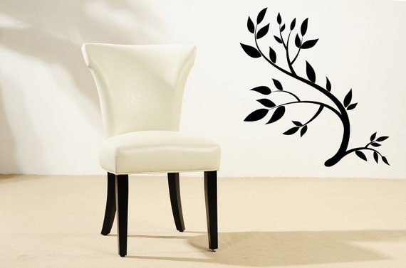 Branch Decor, Branch Decal, Branches, Leaf Decor, Leaf Decal, Leaves, Classic, Wall Decal, Sticker, Vinyl,Office, Bedroom, Kitchen Decor
