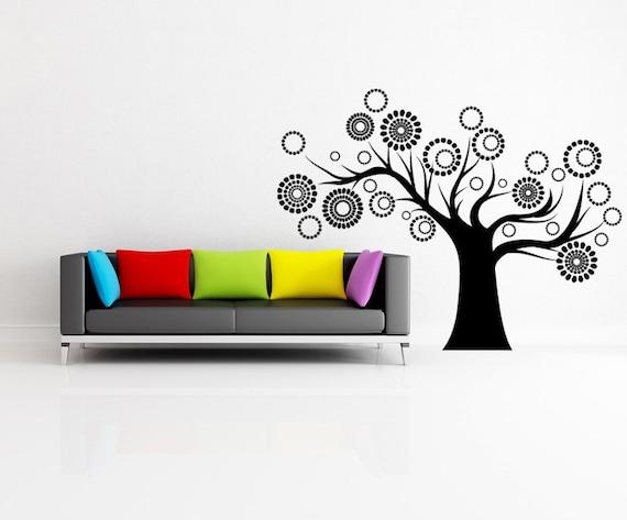Tree Wall Decal, Family, Circle, Circles, Branches, Branch Decor, Limb, Nursery Art, Kids Bedroom Artwork, School, Classroom, Tim Burton
