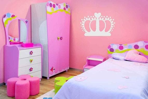 Princess Crown, Princess Decal, Queen Decor, Tiara Decal, Princess Crown Decal, Girl's Room Decor, Wall Art, Daycare, Nursery Decor