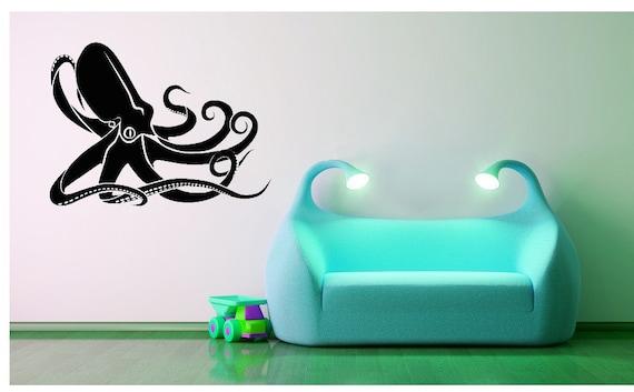 Kraken Decal, Octopus Decal, Octopus Decor, Ocean Decor, Sea Decal, Kids Wall Art, Home Decor, Bathroom Decor, Childrens Bedroom Decor