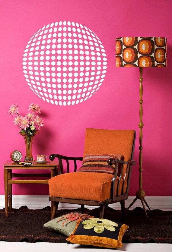 Disco Ball, 3D Wall Art, 3D Wall Decals, Medallion Decal, Ceiling Medallion, Vinyl Decals, Retro Decor, Wall Decal, Wall Decor, Home Art