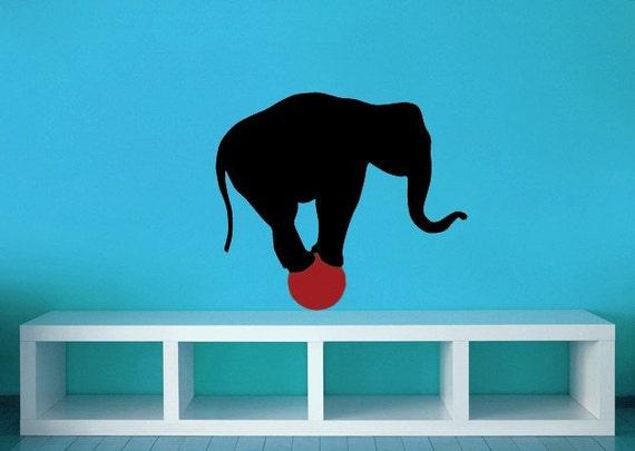 Elephant Nursery, Circus Decor, Elephant Decal, Elephant Decorations, Africa Decal, African Decor, Elephant Trunk, Safari Decal, Wall, Home