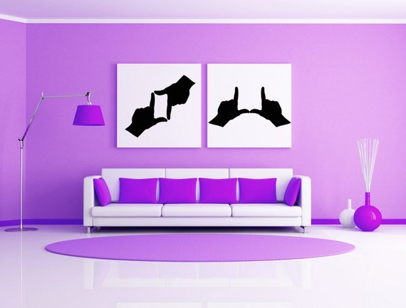 Hand Decor, Sign Language, Sign Language Decal, Hands, Hand, Sticker, Vinyl Decal, Wall Decor, Home Home, Office Decor, Photographer Gifts