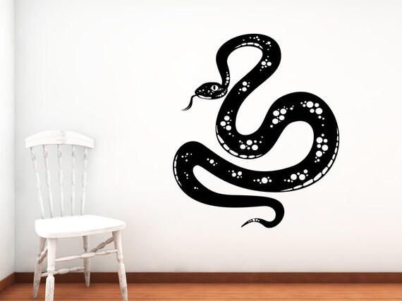 Snake Decal, Snake Art, Reptile Decor, Slitherin, Wall Decal, Boys Bedroom Decor, Kids Room Decor, Home Decor, Desert Decor, Wall Art