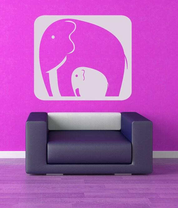 Elephant Nursery, Elephant Decor, Elephant Family Decal, Wall Decal, Kids Room Decor, Elephant Family, Africa Wall Decal, African Decor