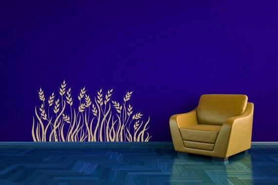 Wheat Grass, Grass Decor, Grass Decal, Plant Decor, Grass Wall Decal, Foliage, Farm, Farmer Gift, Sticker, Gluten, Office, Bedroom Decor