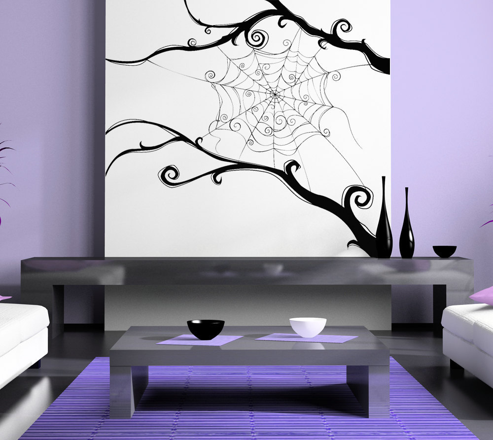 Spider Web SpiderWeb Tim Burton Swirl Wall Artwork