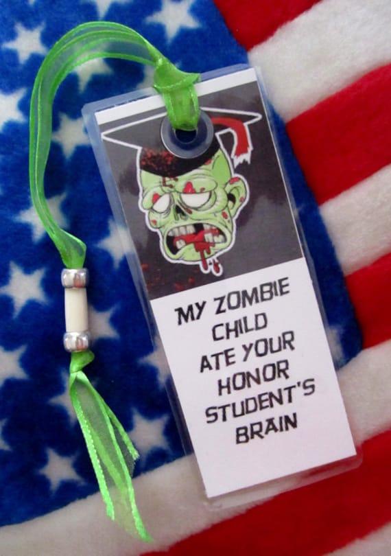 Zombie Bookmark - OH NO