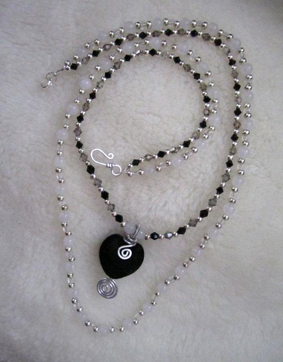 Black Heart, Dark Love Necklace
