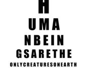 Human Beings Fine Art Print (8x10) Typography