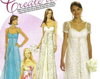 Empire Waist Gown Pattern McCalls 6030 (Misses sizes 6-8-10-12-14)