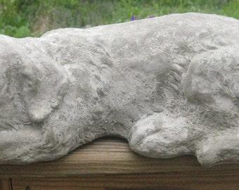 Large SLEEPING LABRADOR RETRIEVER Statue