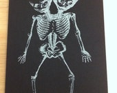 Small Black Moleskine Cahier Notebook with Siamese Twins - Lined