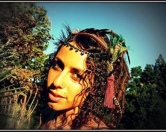 SALE ITEM Feather Headdress -Temple Dancer