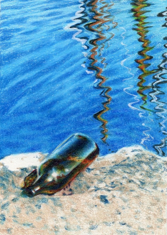 Original ACEO for WaterAid - Day 29: Message Received