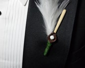 Baseball Boutonniere With Ball Bat And Glove For The Baseball Fanatic Reserved Listing