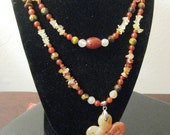 Carnelian, Tiger Eye and Citrine Necklace with Earrings
