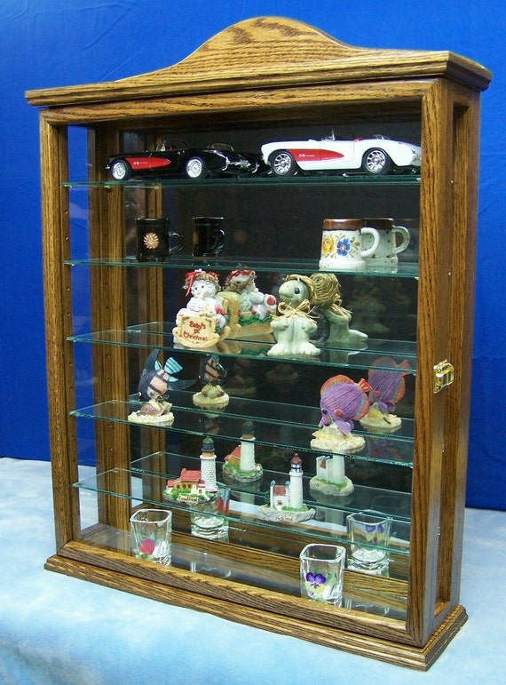 Items Similar To Wall Hanging Curio Cabinet Display On Etsy