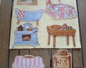 Fabric Paperdolls Furniture and Reversible Play Mat