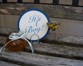 It's A Boy Baby Shower Sign, Photo Prop, It's A Boy, Round Sign