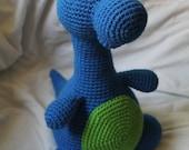 Bruno the Brontosaurus - Amigurumi Plush Crochet PATTERN ONLY (PDF)